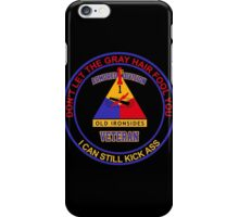 Military - 1st Ad Gray Hair iPhone Case/Skin