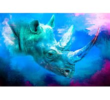 Blue Rhino Photographic Print
