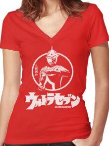 Retro Tokusatsu Ultra seven Ultraman 7 Women's Fitted V-Neck T-Shirt