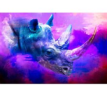 Purple Rhino Photographic Print