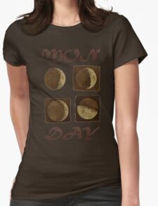 """MON """"Moon"""" DAY Womens Fitted T-Shirt"""