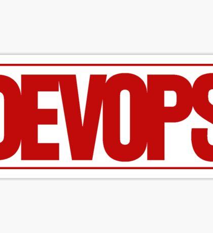 DEVOPS - Marvel style Sticker