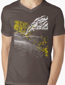 Golden Birds (white) Mens V-Neck T-Shirt