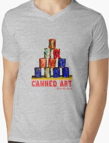 Soup Cans - After The Lunch Mens V-Neck T-Shirt