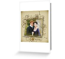 Outlander/Frame with Jamie and Claire Greeting Card