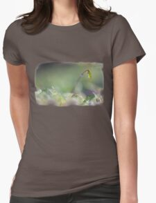 Sparkling moss in the forest Womens Fitted T-Shirt