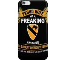 Military - 1st Cavalry Division Veteran Wife iPhone Case/Skin