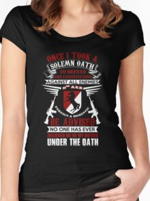 Military - 11th A.c.r   Solemn Oath Women's Fitted Scoop T-Shirt