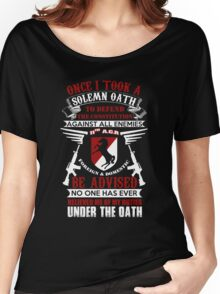 Military - 11th A.c.r   Solemn Oath Women's Relaxed Fit T-Shirt