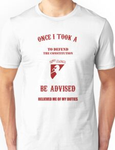 Military - 11th A.c.r   Solemn Oath Unisex T-Shirt