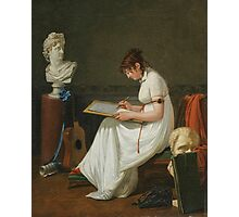 JEAN FRANCOIS SABLET  PORTRAIT OF AN ARTIST drawing AFTER ANTIQUES Photographic Print