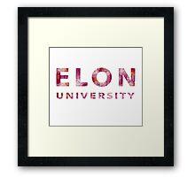 Elon University Framed Print