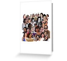 Aubrey Plaza collage  Greeting Card