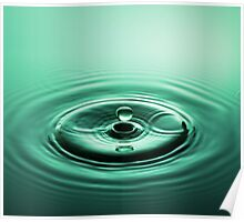 Emerald Water Drop Poster