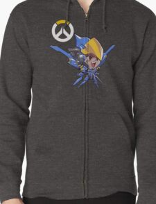 Overwatch Cute but Deadly Pharah Zipped Hoodie