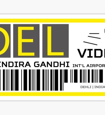 Destination Delhi Airport Sticker