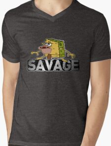 cave man savage spongebob Mens V-Neck T-Shirt