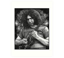 "Jerry Garcia - ""Young Dark Star"" 1967 Grateful Dead Art Print"