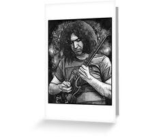 "Jerry Garcia - ""Young Dark Star"" 1967 Grateful Dead Greeting Card"