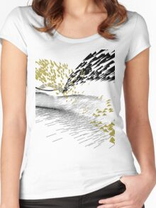 Golden Birds Women's Fitted Scoop T-Shirt