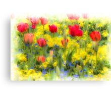 Summer Flowers Art Canvas Print