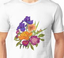 Floral Graphic Design Unisex T-Shirt