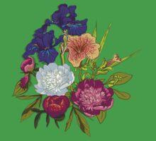 Floral Graphic Design Kids Tee