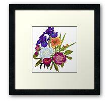 Floral Graphic Design Framed Print