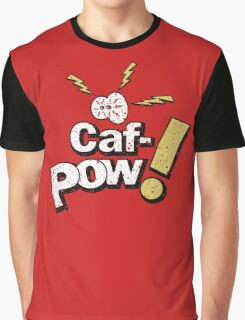Caf-Pow - Distressed Spatter Logo Variant Graphic T-Shirt