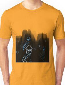 Jellyfish - black and blue Unisex T-Shirt