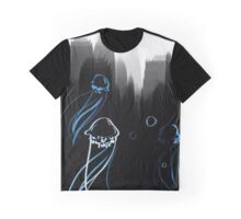 Jellyfish - black and blue Graphic T-Shirt