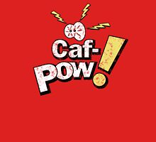 Caf-Pow - Distressed alternate Logo Womens Fitted T-Shirt