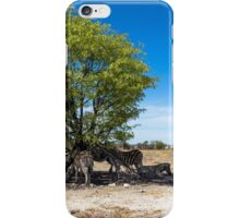Zebras in the Shadow of the Only Tree - Etosha, Namibia iPhone Case/Skin