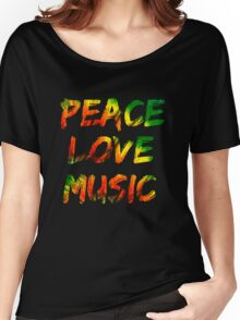 Music Peace Love Women's Relaxed Fit T-Shirt