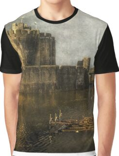 Inner Moat At Caerphilly Castle Graphic T-Shirt