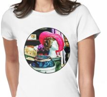 Vintage Pink Hat Womens Fitted T-Shirt