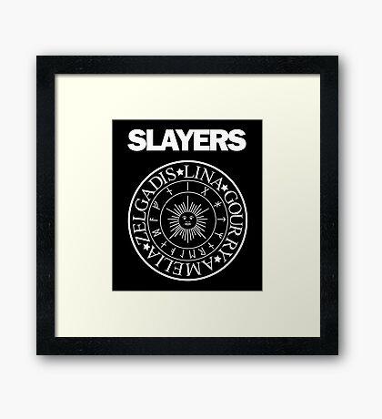 Slayers - Ramones Logo Parody Framed Print