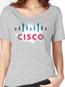 Cisco Logo Splat Women's Relaxed Fit T-Shirt