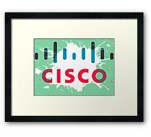 Cisco Logo Splat Framed Print