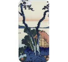 Vintage famous art - Hokusai Katsushika - Lake Suwa In The Shinano Province iPhone Case/Skin