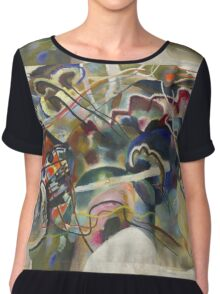 Kandinsky - Painting With White Border Moscow Chiffon Top