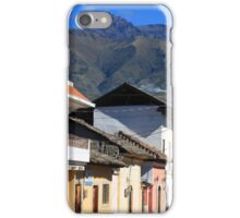 Mountain Town Near Mount Cotacachi iPhone Case/Skin