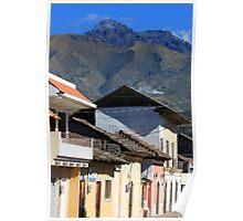 Mountain Town Near Mount Cotacachi Poster