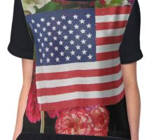 Happy Memorial Day Chiffon Top