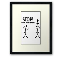 Funny Music Cartoon Framed Print