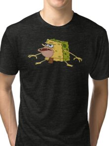 Caveman Spongebob Tri-blend T-Shirt