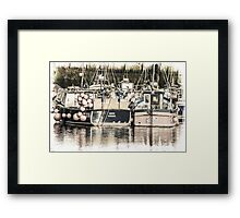 Boats Waiting - Cornwall Framed Print