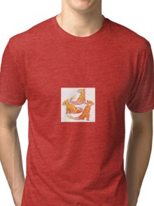 Realistic charmander pokemon Tri-blend T-Shirt