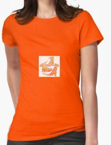 Realistic charmander pokemon Womens Fitted T-Shirt