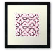 Knitted Fish Scales Pink Framed Print